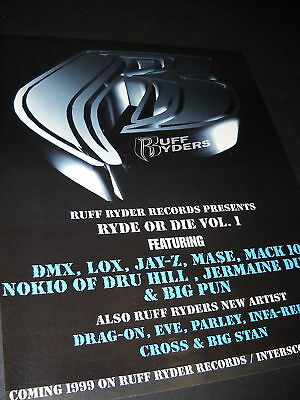 Rap Hip-Hop 1998 Promo Ad DMX JAY-Z BIG PUN MACK 10 etc