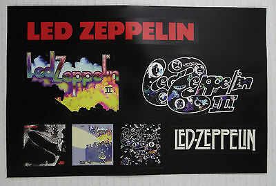 "Led Zeppelin * First Three Albums remastered* 8.75"" x 5"" Promo Sticker sheet"