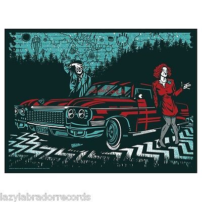 Twin Peaks Let's Rock Let's Dance Silkscreen Poster Print Rockets Are Red
