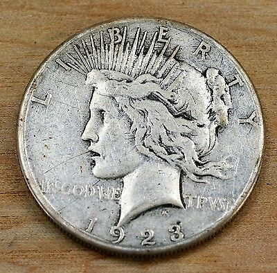 1923 S Peace Silver Dollar Minted In San Francisco  Item 1203