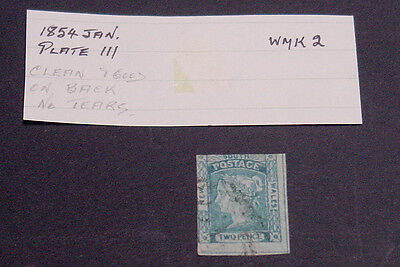 New South Wales 1854 2d Laureate stamp, used.