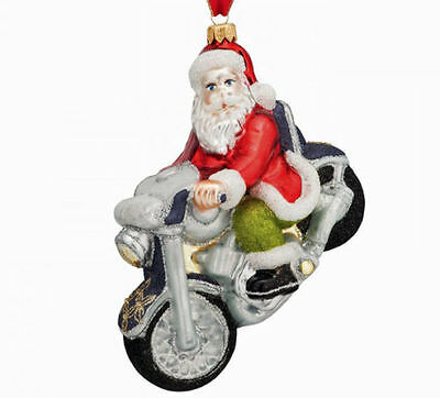 santa's joyride waterford 2015 christmas ornament tree santa motorcycle in box