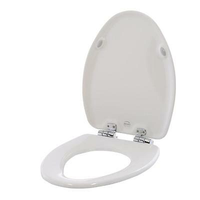 BEMIS Slow Close Elongated Closed Front Toilet Seat in White 19170CHSL 000 NEW