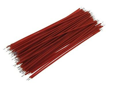 【10CM】 28AWG Standard Jumper Wire Pre-cut Pre-soldered - Red - Pack of 100