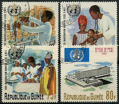 Guinea 1967 SG#574-7 WHO Headquarters Cto Used Set #A92742