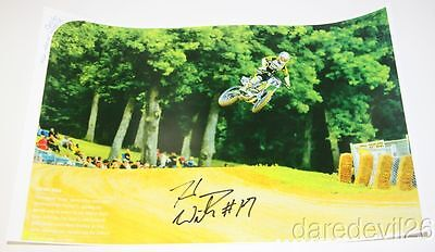 2015 Henry Wiles signed '14 Cycle World Honda CRF450R AMA Flat Track poster