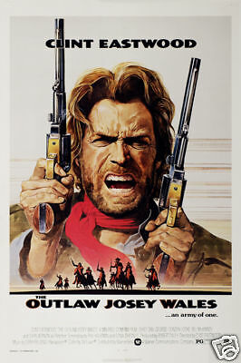 The outlaw Josey Wales Clint Eastwood movie poster print