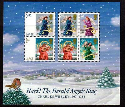 2007 GB CHRISTMAS Miniature Sheet MS2795 MNH Unmounted Mint Hark Herald Angels