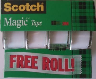 "3M Scotch (4) rolls *Magic Tape 3/4""x325"" each  3105B-HL-15"