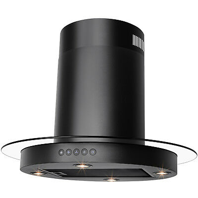"""30"""" Stainless Steel Island Mount Touch Panel Control Ductless Range Hood"""