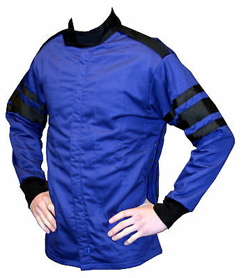 Large Blue Single Layer Race Driving Fire Safety Suit Jacket SFI 3.2A/1 Rated