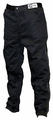 Large Black Single Layer Race Driving Fire Safety Suit Pants SFI 3.2A/1 Rated