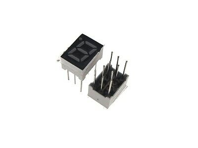 """0.28"""" 1 Digit 7-Segment LED Display DIP common cathode - Red - Pack of 2"""