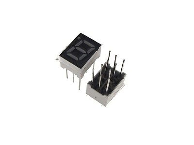"""0.28"""" 1 Digit 7-Segment LED Display DIP common anode - Red - Pack of 2"""