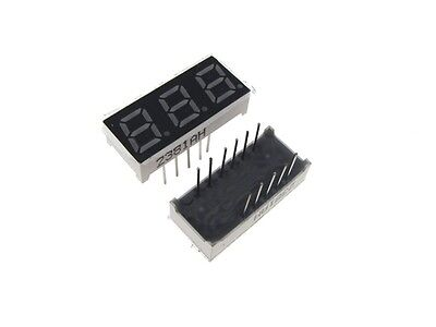 "0.28"" 3 Digit 7-Segment LED Display DIP common anode - Red - Pack of 2"