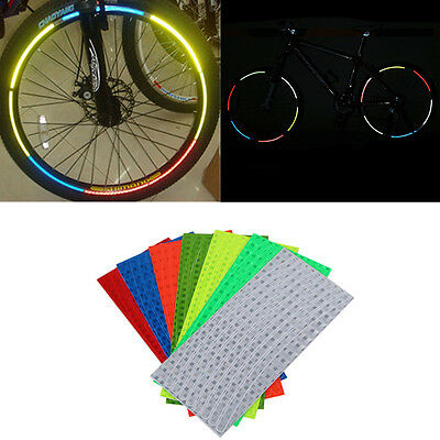 Fluorescent MTB Bike Bicycle Cycling Wheel Rim Stickers Reflective Decal Sticker