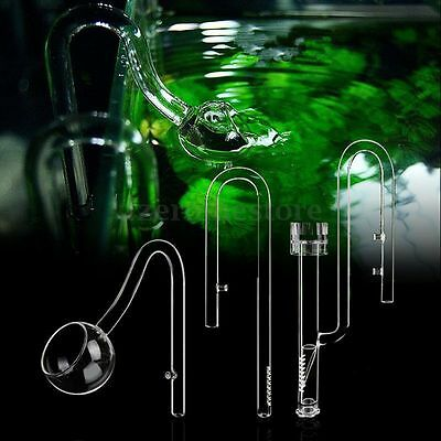 Aquarium Glass Inflow & Outflow Poppy Pipe set 13/17mm for 12/16/22 mm Tube HOT