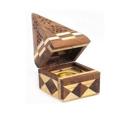 Temple Incense Cone Burner - Jointed Wood