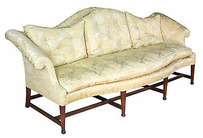 SWC-A Chippendale Mahogany Serpentine Camelback Sofa, New York, c.1800