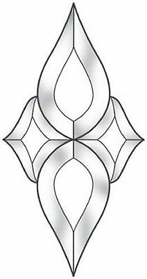 Stained Glass Supplies Small Centerpiece Clear Bevel Cluster EC620