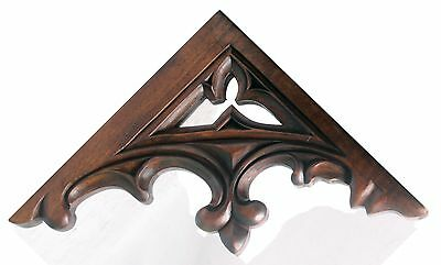 Incredible Carved Wood Ecclesiastical Gothic Open Tracery Corbel