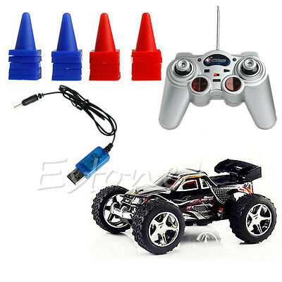 New Black 1:32 Radio Remote Control RC RTR High Speed Racing Truck Car Buggy Toy