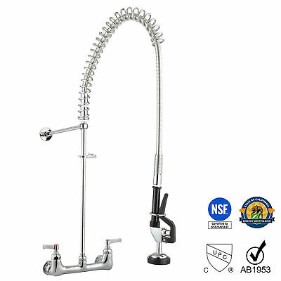 "New Commercial Kitchen Restaurant 8"" Center Splashmount Pre-Rinse Faucet"