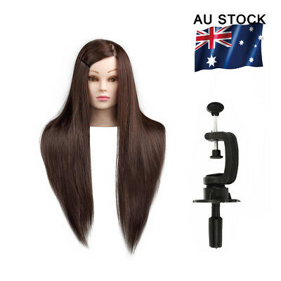 50% 30%Clamp+Training Makeup Human Hair Cosmetology Hairdressing Head Mannequin