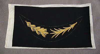Vintage Wwii Korea Era Us Army Navy Officer Hat Visor Bullion Leaves Un Cut
