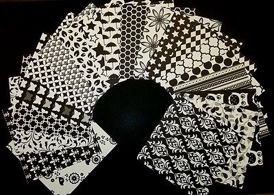 "20 Stunning BLACK & WHITE Scrapbooking/Cardmaking Papers 15cm x 15cm (6"" x 6"")"