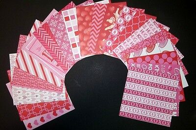 "*BE MINE* Beautiful Papers x 20- 15cm x15cm (6 x 6"")Scrapbooking/Cardmaking"