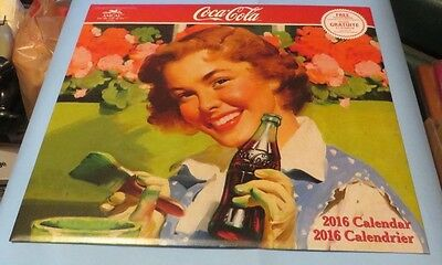 2016 Coca Cola Picture Calender RARE CANADIAN CLUB  FREE PROMOTIONAL POSTER