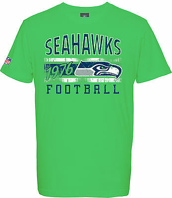NFL Football T-Shirt SEATTLE SEAHAWKS 1976 green Logo Majestic