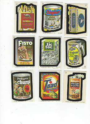 1982 1985 Topps Wacky Packages Complete Irish Ireland Sticker Card Set 30/30 NM