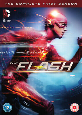 The Flash: The Complete First Season DVD (2015) Grant Gustin cert 12 5 discs