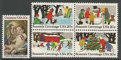 UNITED STATES. 1982. Christmas Set. SG: 2002 & 2003a. Mint Never Hinged.