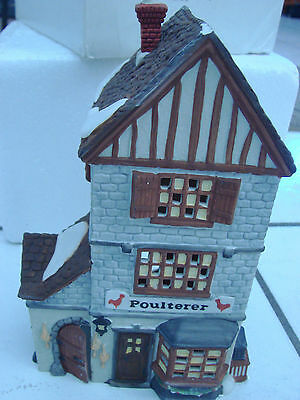 Dickens Department  56 Poulterer Christmas Building Chicken house with box
