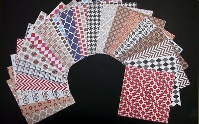 "Colourful *PATTERN BASICS*  Scrapbooking/Cardmaking Papers 15cm x 15cm (6"" x 6"")"