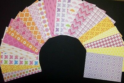 "Colourful *PATTERN BASICS*  Scrapbooking/Cardmaking Papers 15cm x 10cm (6"" x 4"")"