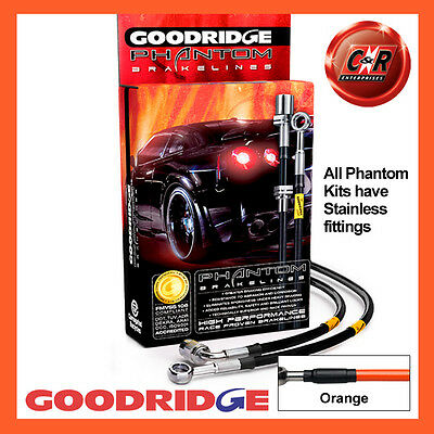 Mercedes SLK200-55AMG R171 03/04on Goodridge SS Orange Brk Hoses SME0910-4C-OR