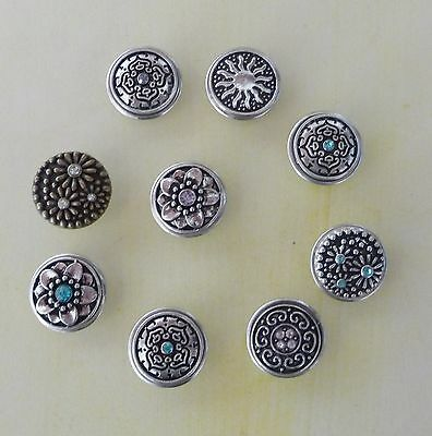 Noosa Style Snap On  Chunk Button Charms for Leather Bracelet Amsterdam Fashion