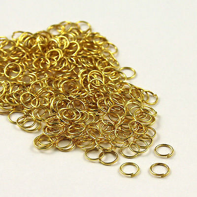 Gold Plated Open Jump Rings Connector Jewelry Pick Size 4/ 5/ 6 /7 /8 /9/10 mm