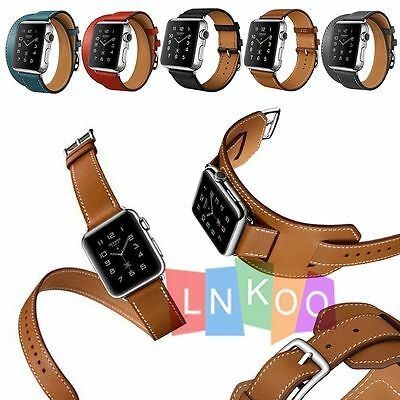 Apple Watch Band Double Tour Single Tour Cuff Bracelet Strap For iWatch 38/42mm
