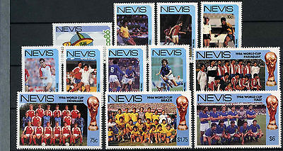 Nevis 1986 SG#389-400 World Cup Football MNH Set #D7374