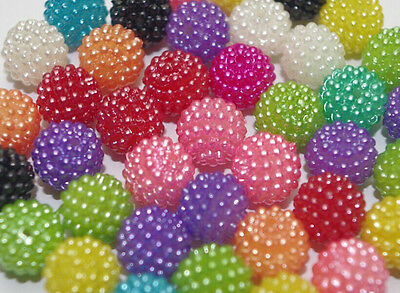 12mm Acrylic Disco Ball Beads Shamballa Pave Macrame DIY Spacer beads 40pc DF178