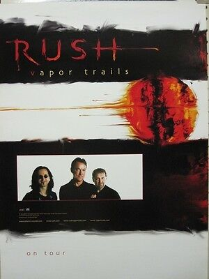 RUSH 2001 vapor trails tour promotional poster ~NEW old stock & MINT condition~!