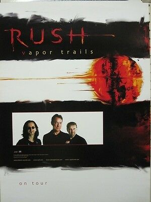 RUSH 2001 vapor trails tour promotional poster New old stock Flawless Condition