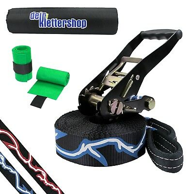 Slackline Set 10 m 50 mm 3t Tightrope Tight Rope JUMPLINE KIT
