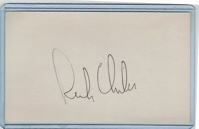 Rich Chiles Index Card Signed 1971-78 Astros Mets Twins Psa/dna Certified