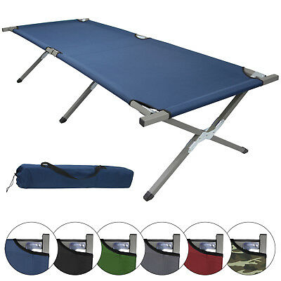 Folding camp bed HOLIDAY XXL 200x70x52 cm Camping bed 150 kg fold up guest bed